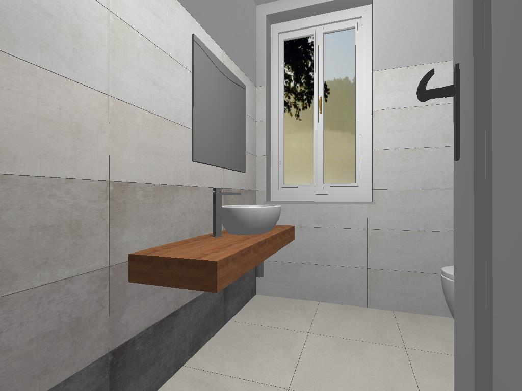 Ristrutturazione bagno - Roma, Viterbo - Restyling bagno 3D